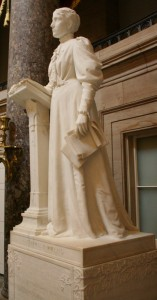 This statue honoring racist, authoritarian anti-alcohol radical, and First-Wave feminist Frances Willard is on display at the US Capitol.